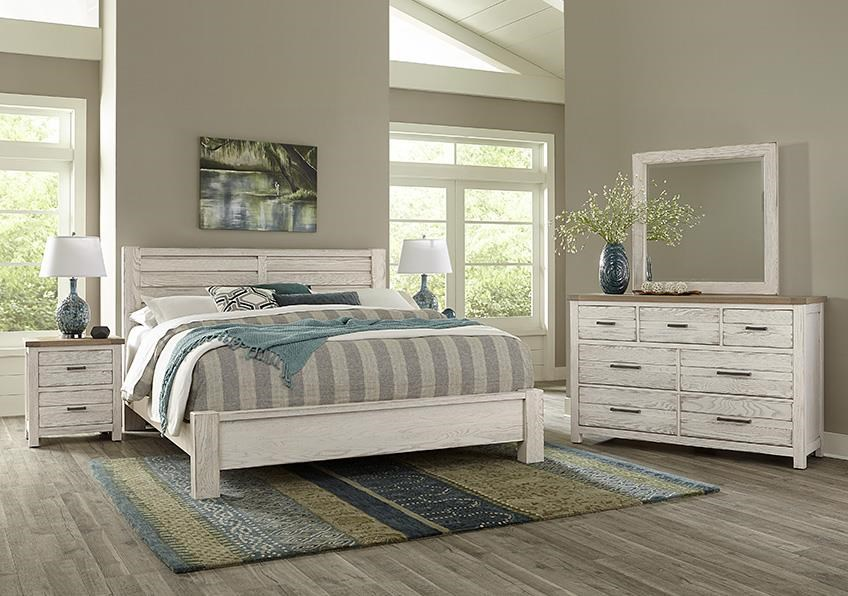 Highland QUEEN PLANK BED, Dresser Mirror, Nightstand by Vaughan Bassett at Johnny Janosik