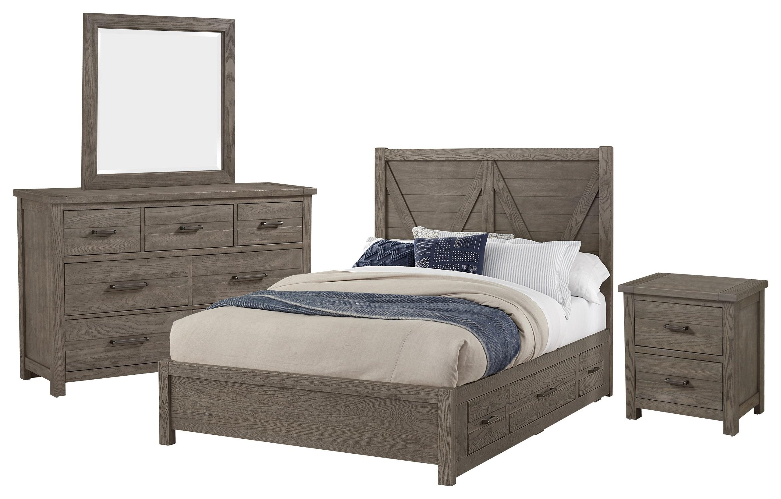 Highland King V Storage, Dresser, Mirror, Nightstand by Vaughan Bassett at Johnny Janosik