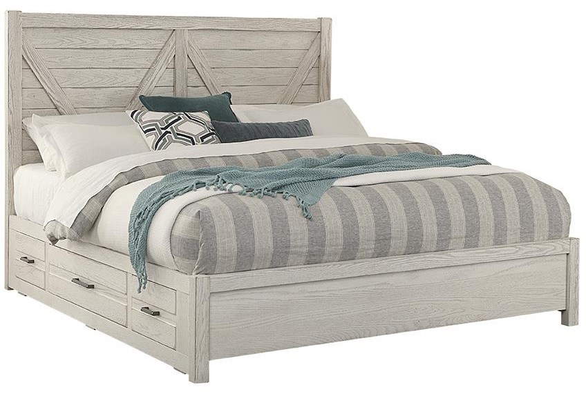King V PANEL BED With Drawers 2 SIDE