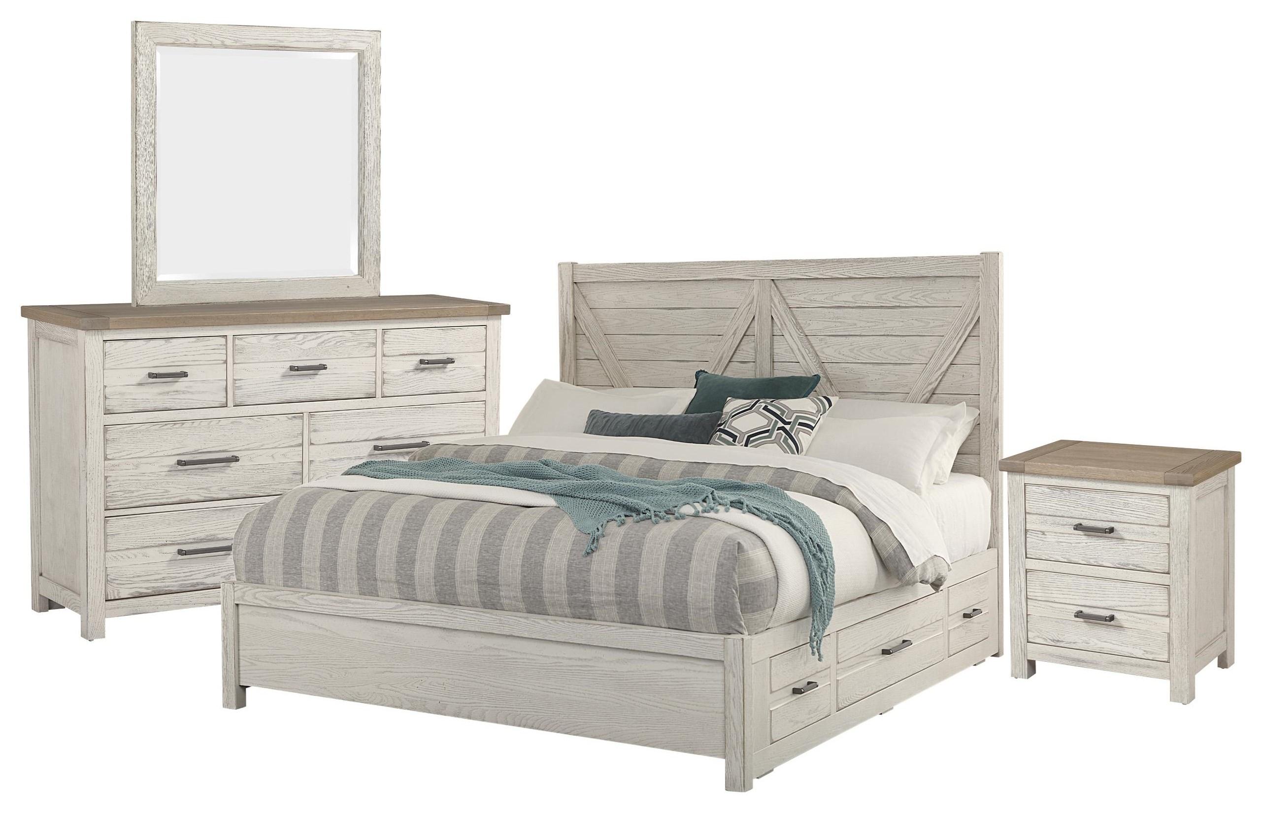 King V , Dresser, Mirror, Nightstand