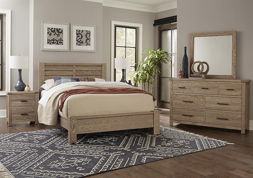 King PLANK BED, Dresser Mirror, Nightstand