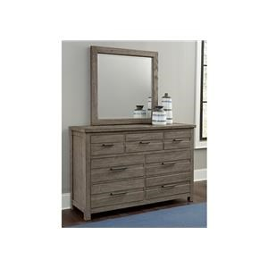 7 Drawer Dresser and Landscape Mirror