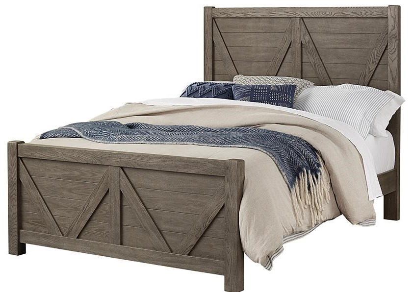 Highland Queen V Panel Bed by Vaughan Bassett at Johnny Janosik