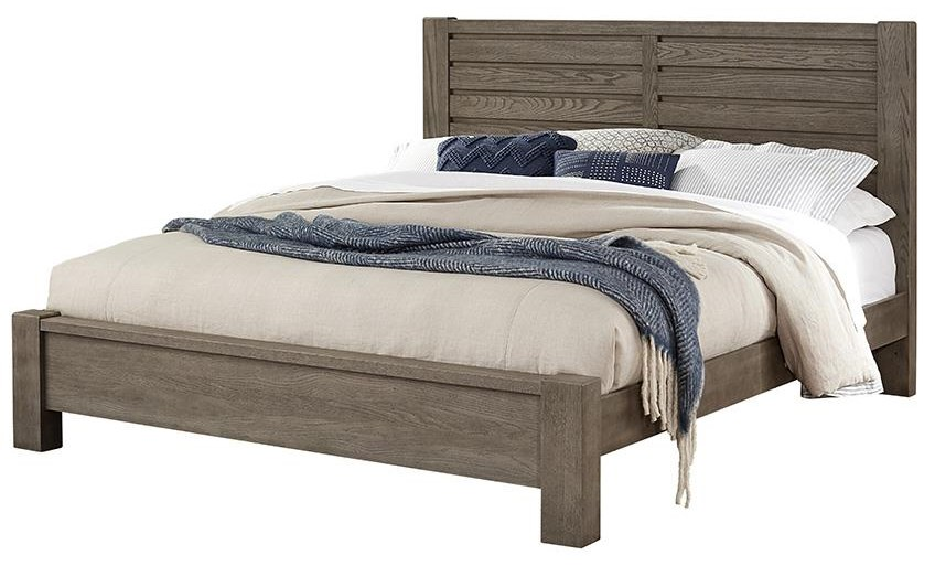 KING HORIZONTAL PLANK BED