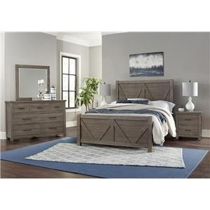Queen V Panel, Dresser, Mirror, Nightstand