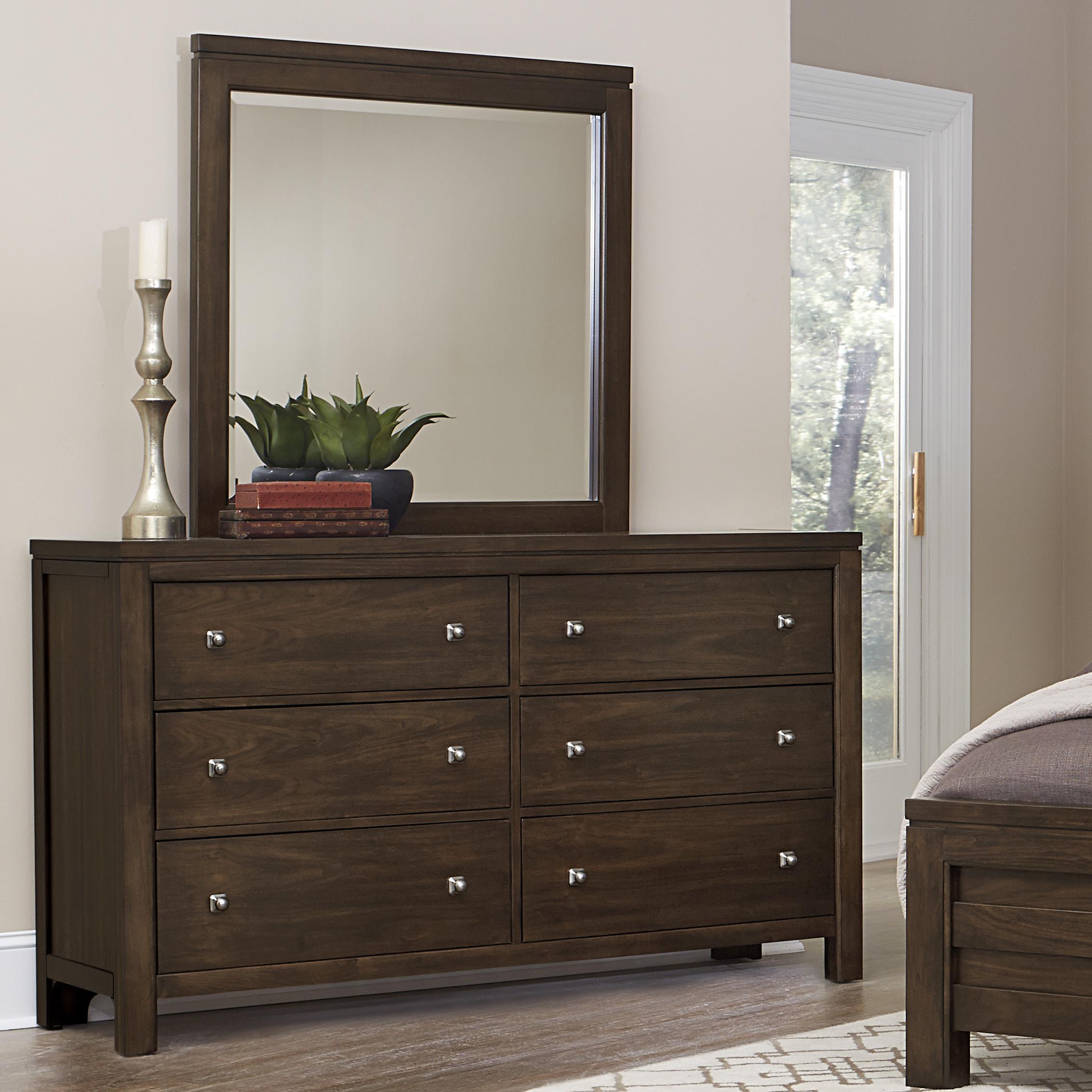 Vaughan Bassett Kismet Dresser & Mirror - Item Number: 410-002+446