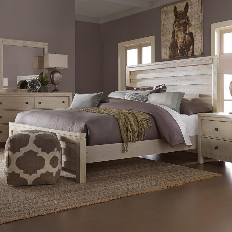 Vaughan Bassett Kismet Queen Planked Panel Bed - Item Number: 412-558+855+922