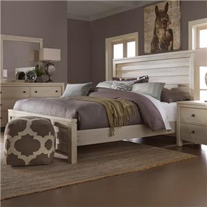 Vaughan Bassett Kismet King Planked Panel Bed