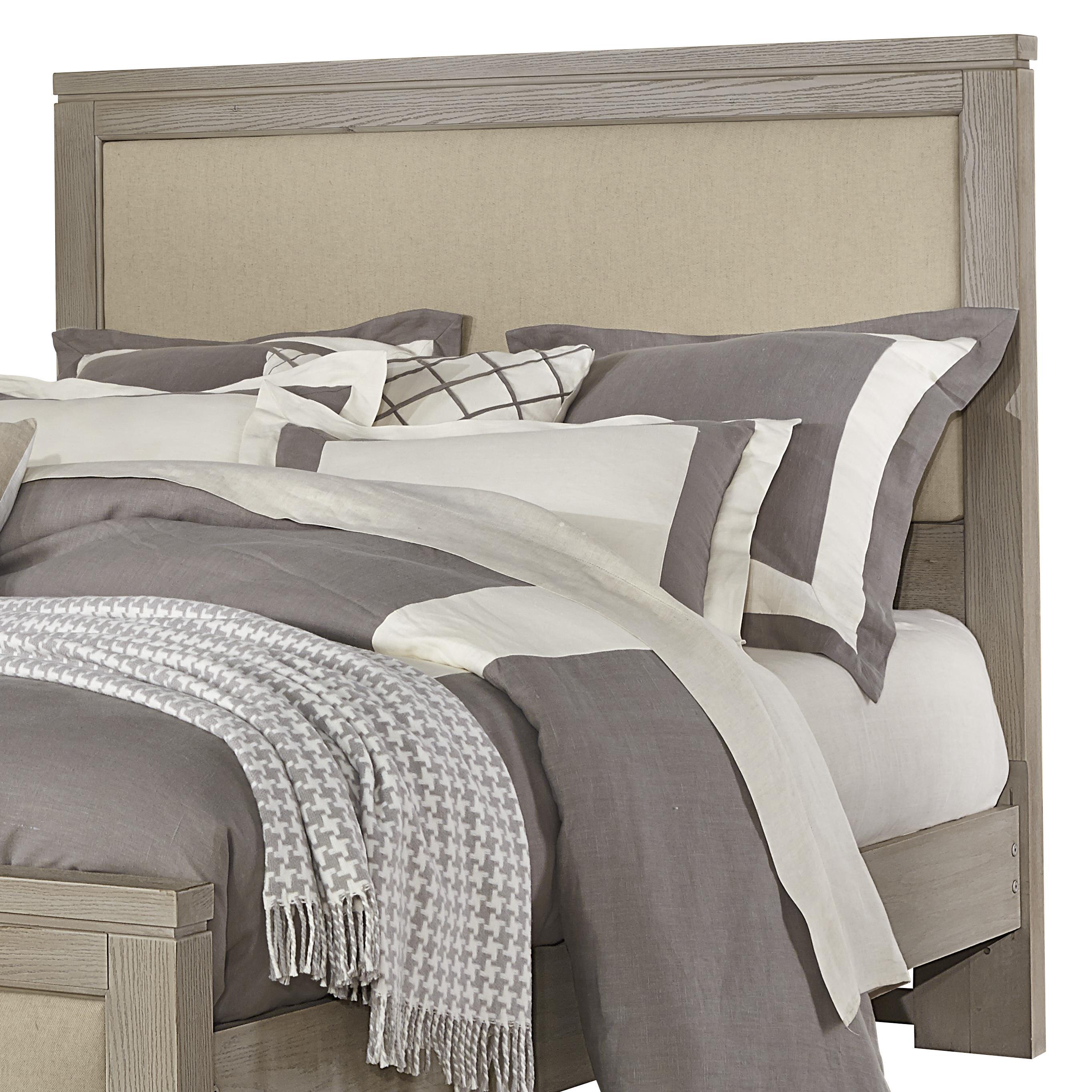 Vaughan Bassett Kismet King Upholstered Headboard, Base Cloth Linen - Item Number: 412-669