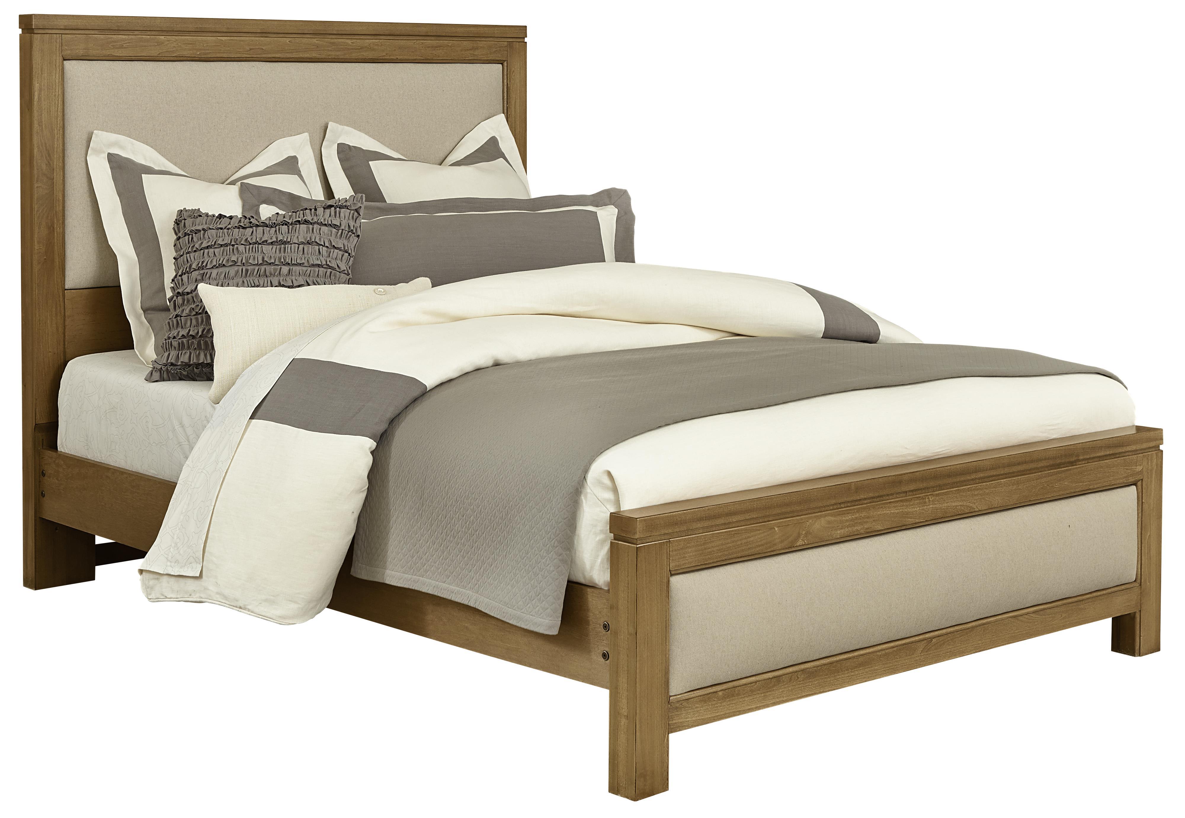 Vaughan Bassett Kismet King Upholstered Bed, Base Cloth Linen - Item Number: 414-669+966+922+MS1