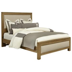Vaughan Bassett Kismet Queen Upholstered Bed, Base Cloth Linen