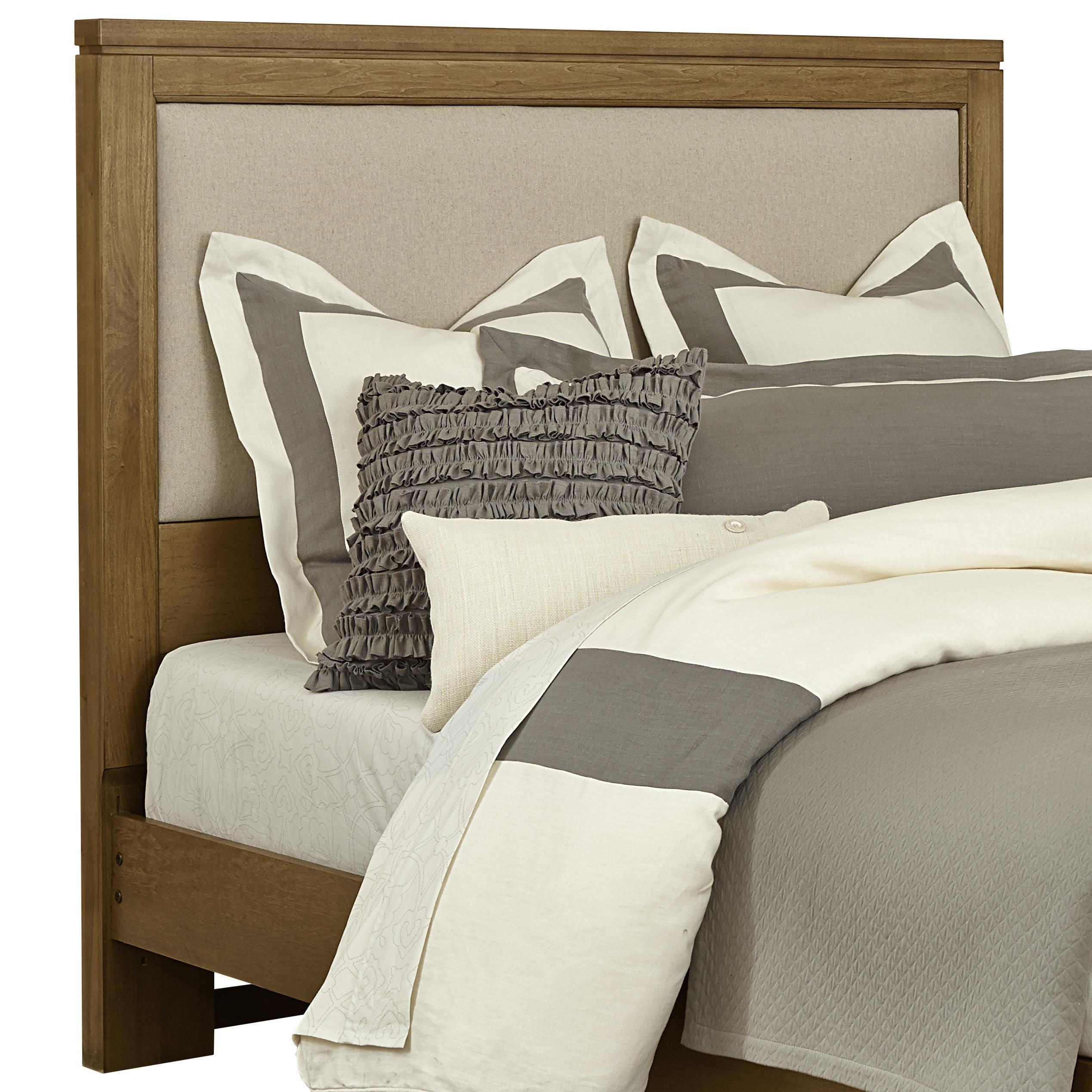 Vaughan Bassett Kismet Queen Uph. Headboard, Base Cloth Linen - Item Number: 414-559
