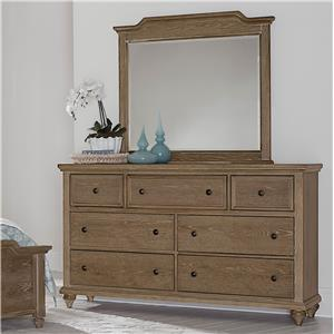 Vaughan Bassett Nantucket Dresser & Large Landscape Mirror