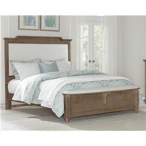 Vaughan Bassett Nantucket Queen Upholstered Bed with Bench Footboard