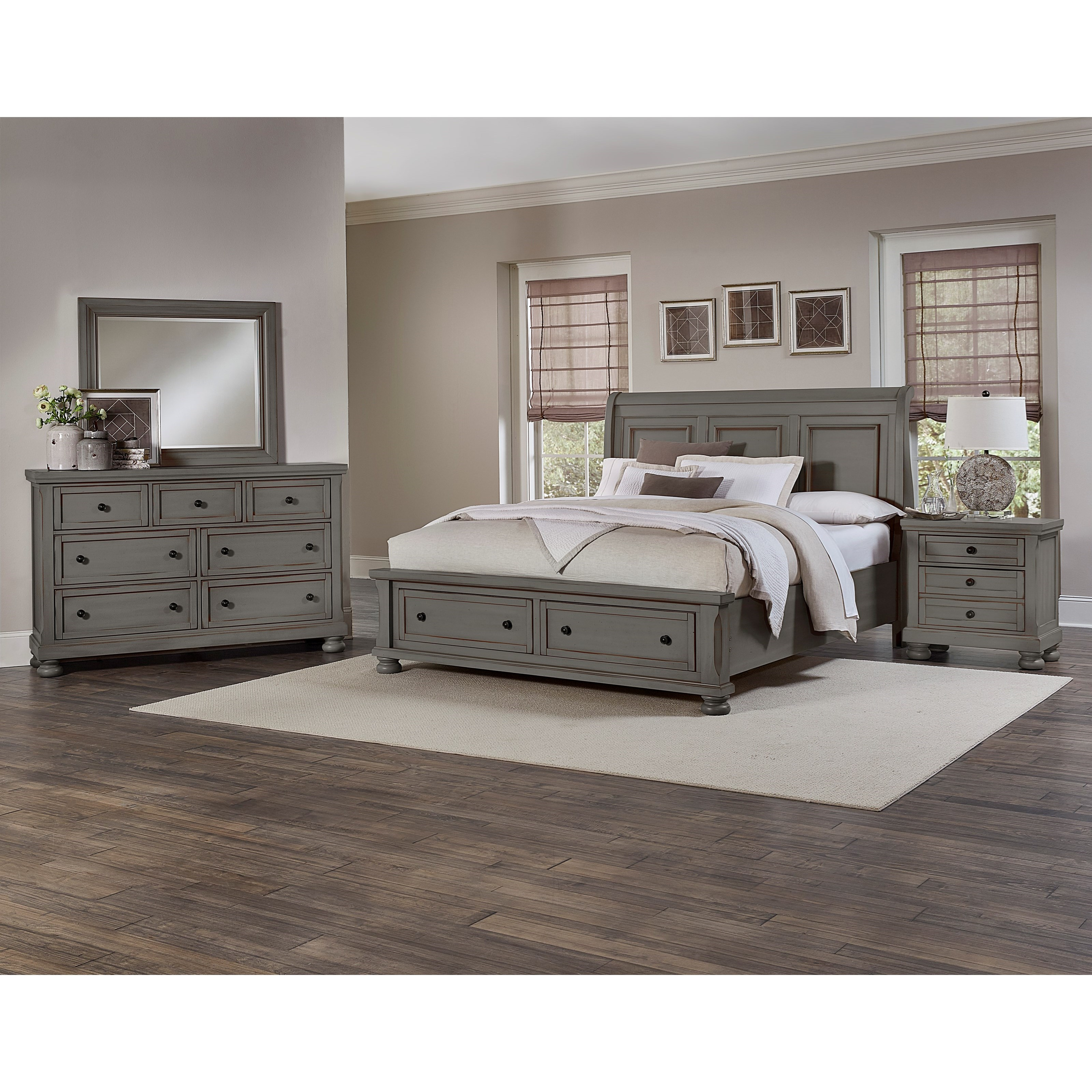 vaughan bassett reflections king storage bed with sleigh vaughan bassett reflections king storage sleigh bed in