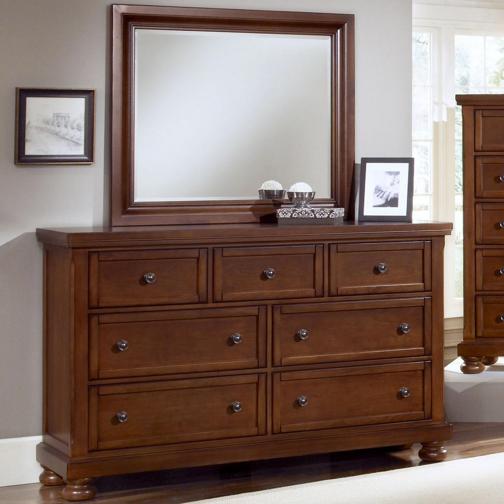 Vaughan Bassett Reflections 7 Drawer Dresser and Mirror Combination - Item Number: 532-002+446