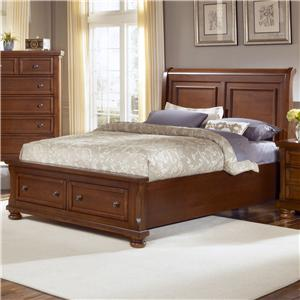 Vaughan Bassett Reflections Queen Storage Bed with Sleigh Headboard