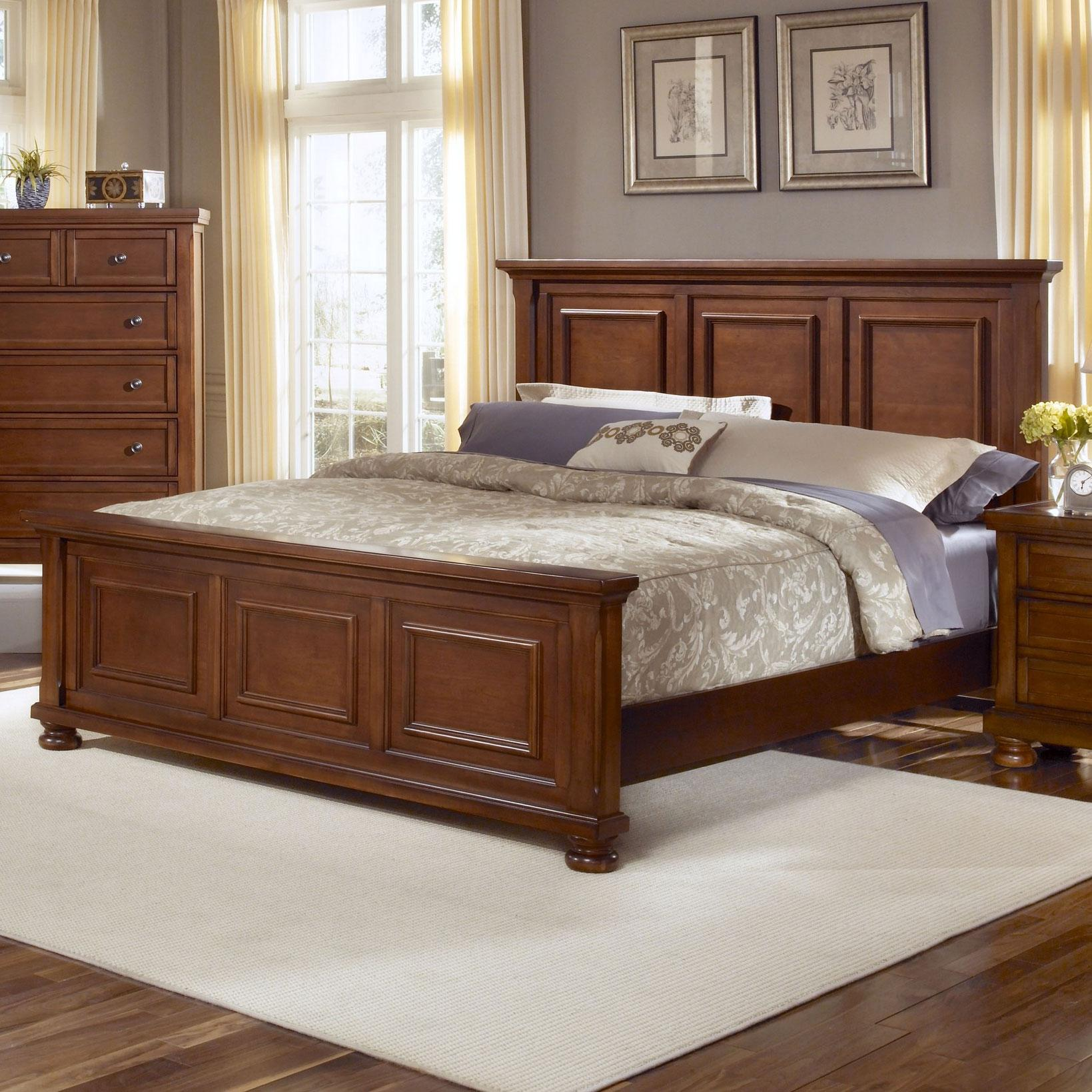 Vaughan Bassett Reflections Queen Mansion Bed - Item Number: 532-558+855+922