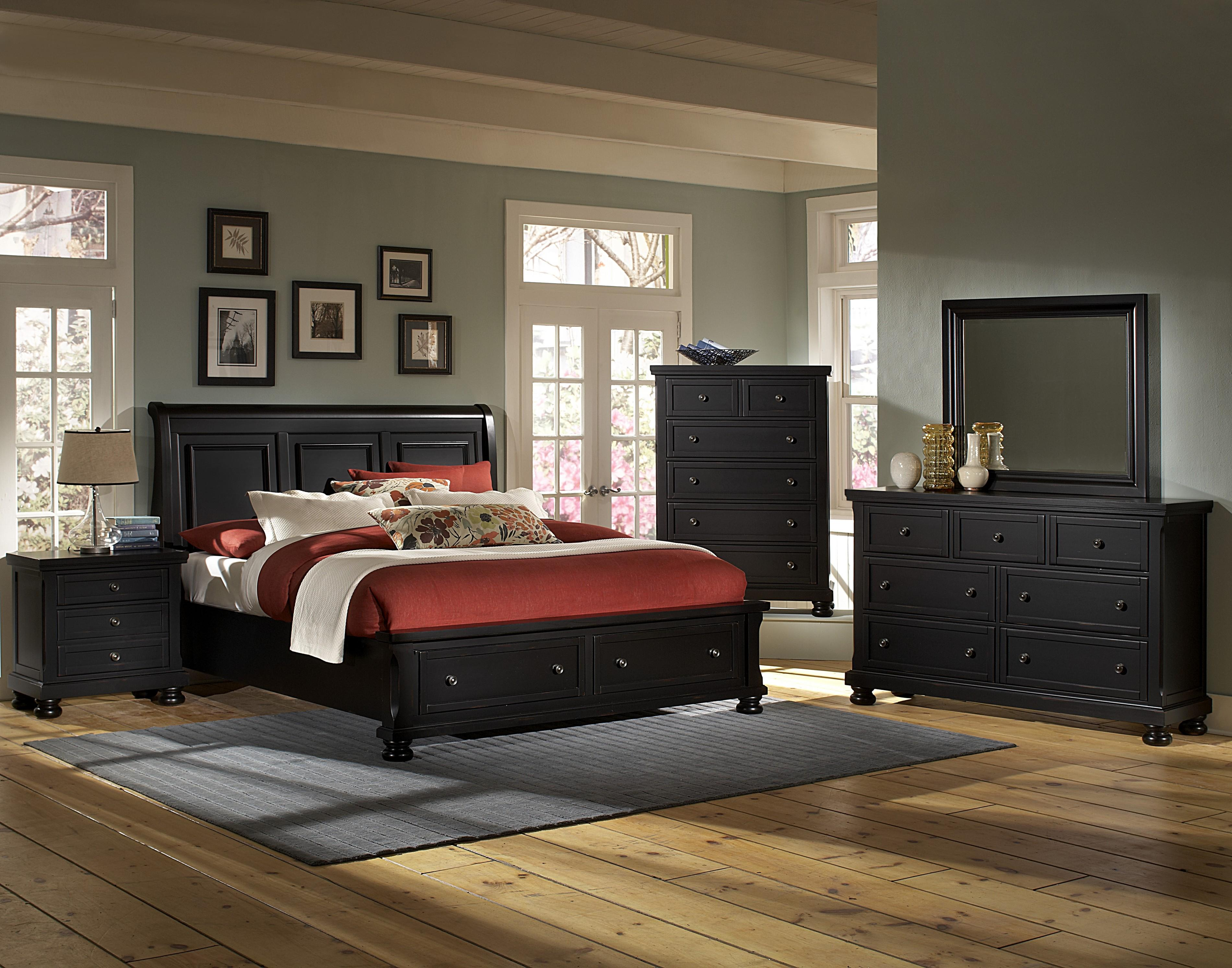 Vaughan Bassett Reflections Queen Bedroom Group - Item Number: 534 Q Bedroom Group 1
