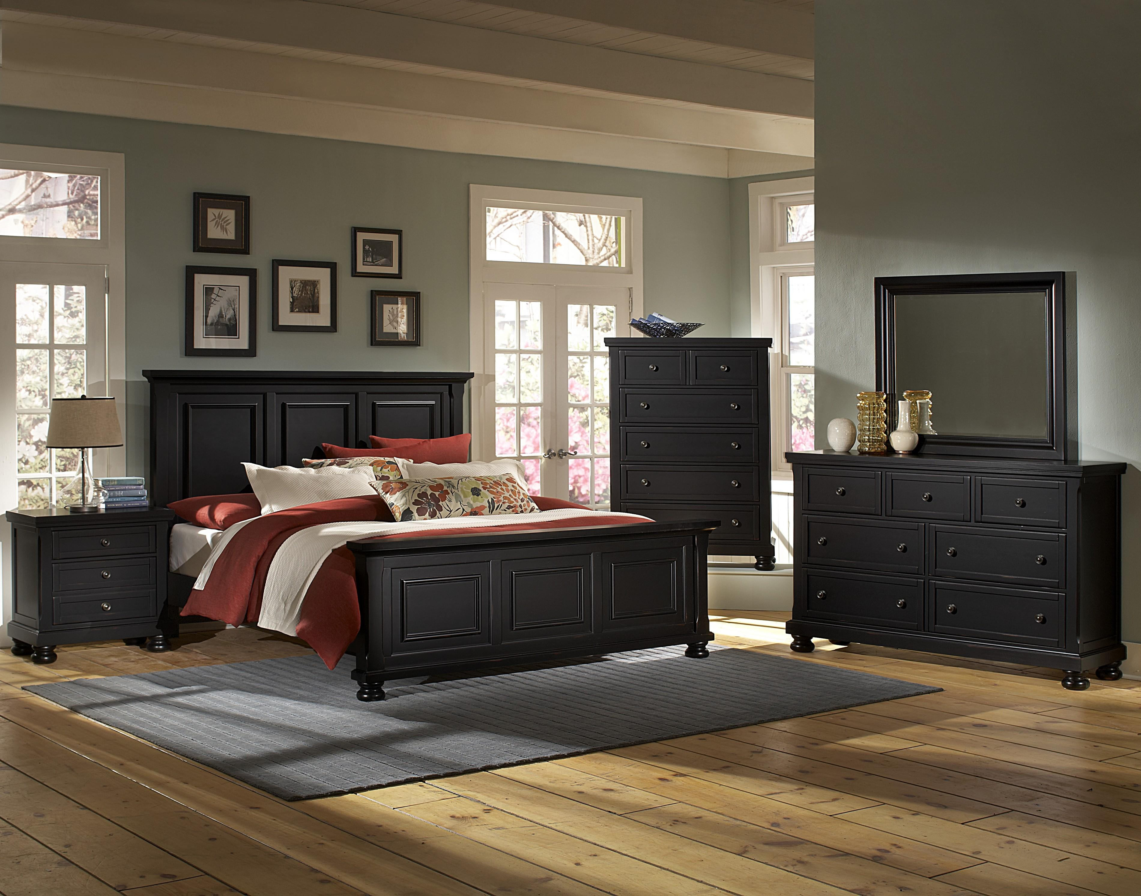 Vaughan Bassett Reflections Queen Bedroom Group - Item Number: 534 Q Bedroom Group 2