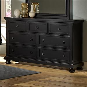Vaughan Bassett Reflections Triple Dresser - 7 Drawers