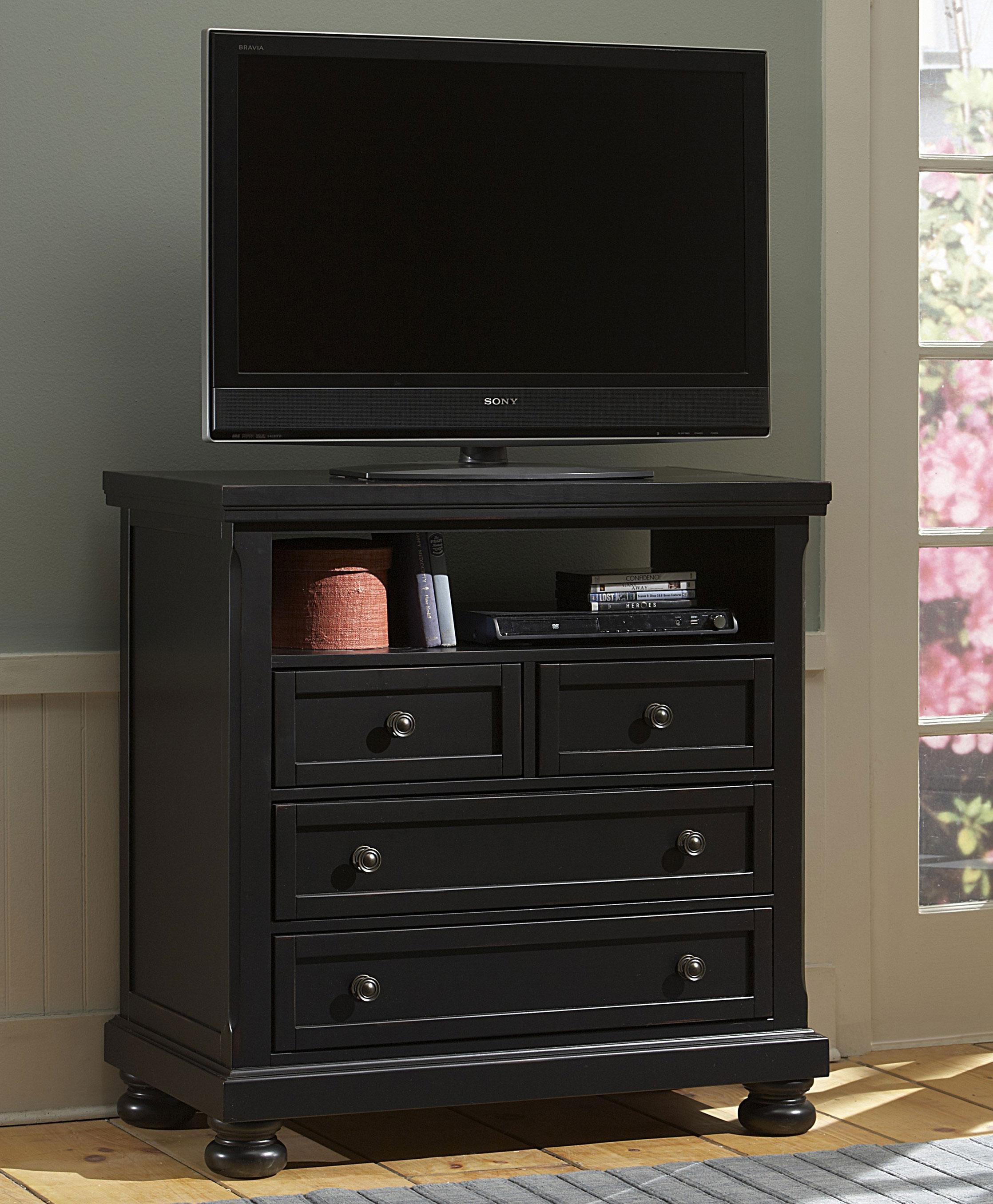 Reflections Entertainment Center Media Chest by Vaughan Bassett at Lindy\'s  Furniture Company