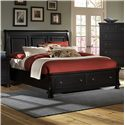 Vaughan Bassett Reflections Queen Storage Bed with Sleigh Headboard - Item Number: 534-553+050B+502+555T