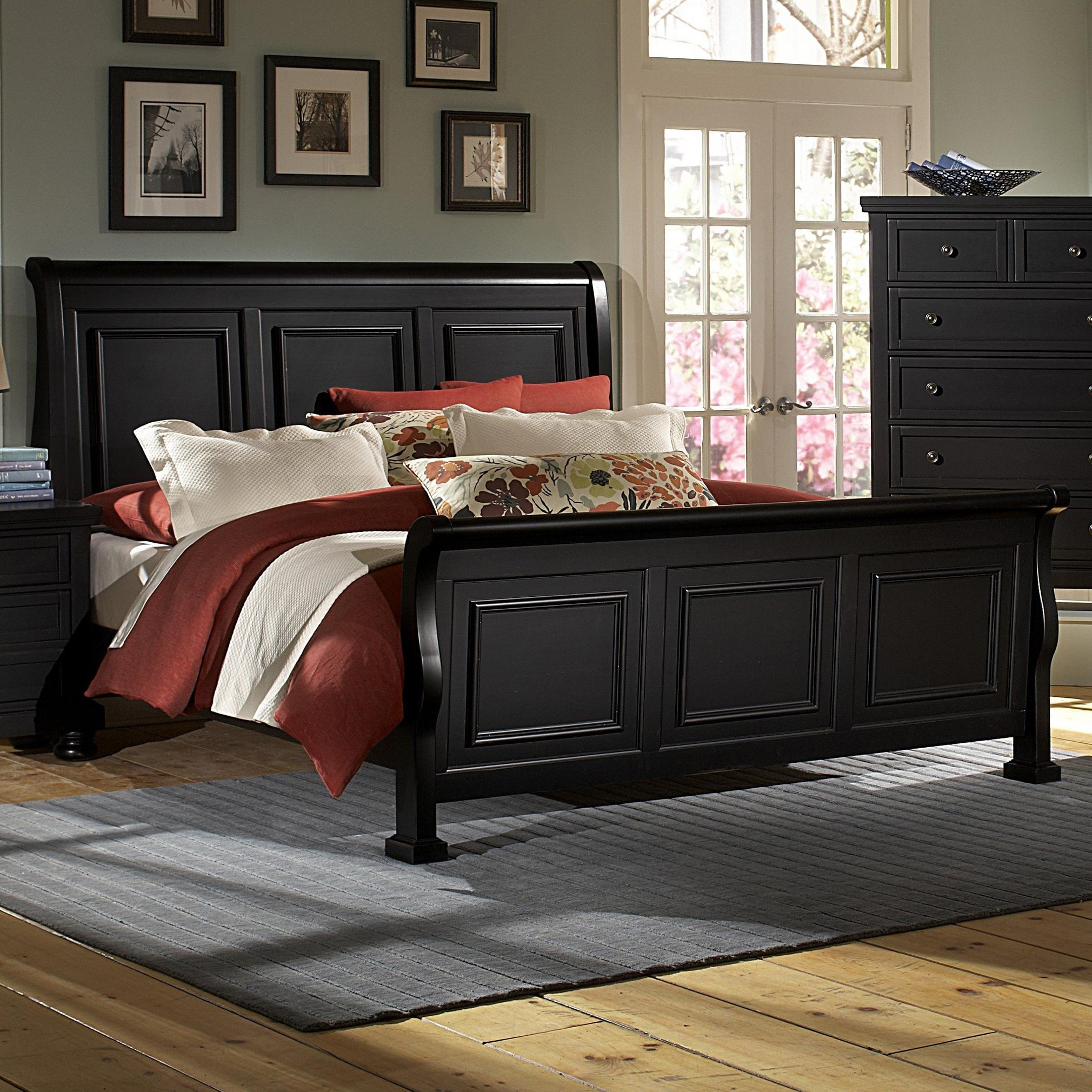 Vaughan Bassett Reflections Queen Sleigh Bed - Item Number: 534-553+355+722