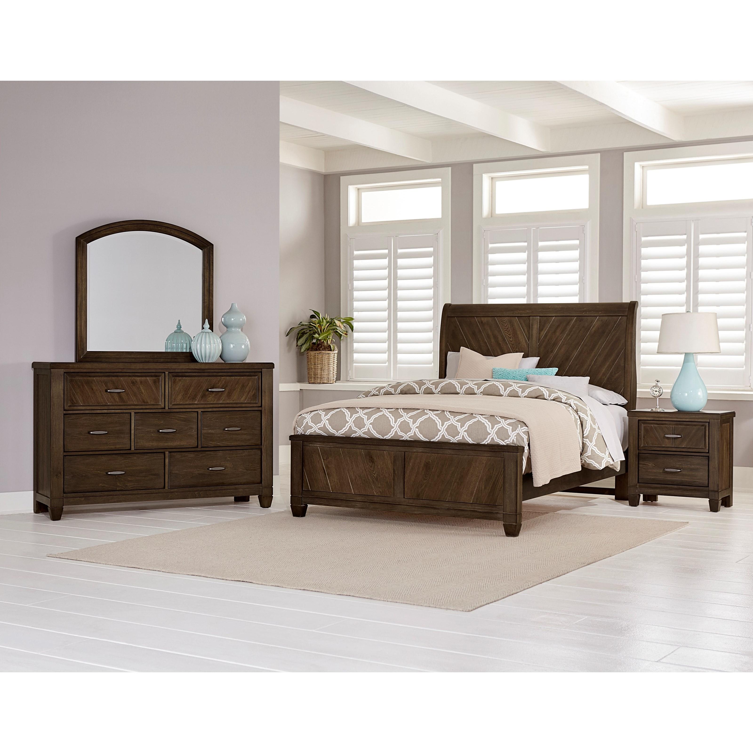 Vaughan Bassett Rustic Cottage Queen Bedroom Group   Item Number: 640 Q  Bedroom Group 3