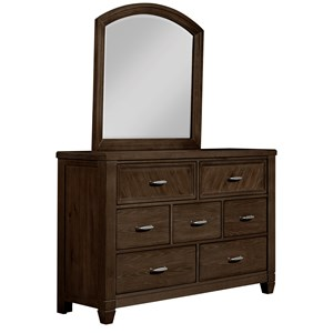 Vaughan Bassett Rustic Cottage Dresser with Mirror