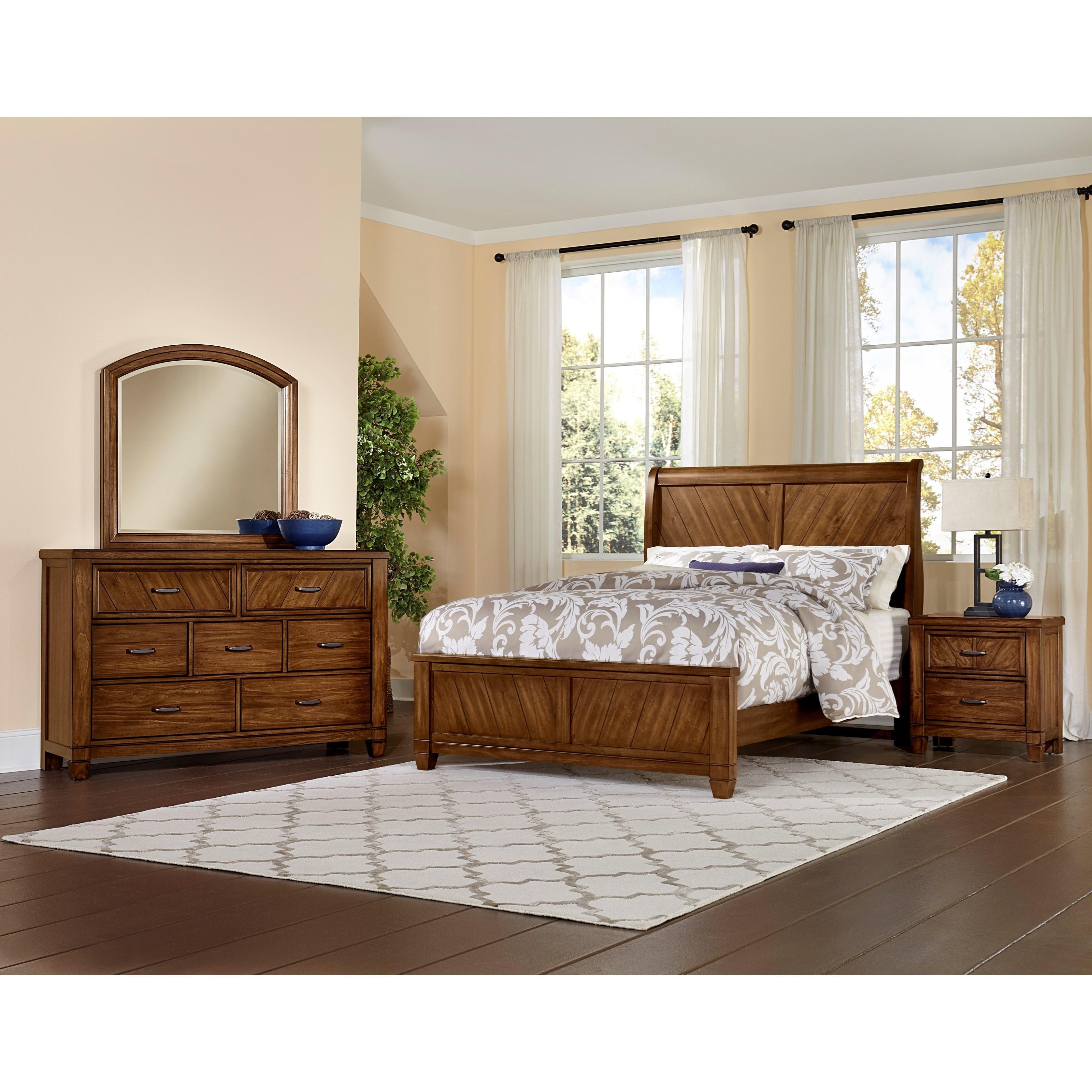 Vaughan Bassett Rustic Cottage Queen Bedroom Group - Item Number: 642 Q  Bedroom Group 3