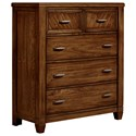 Vaughan Bassett Rustic Cottage Chest of Drawers - Item Number: 642-115