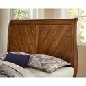 Vaughan Bassett Rustic Cottage Rustic King Sleigh Bed with Wine Barrel Inspired Panels - Bed Shown May Not Be Size Indicated