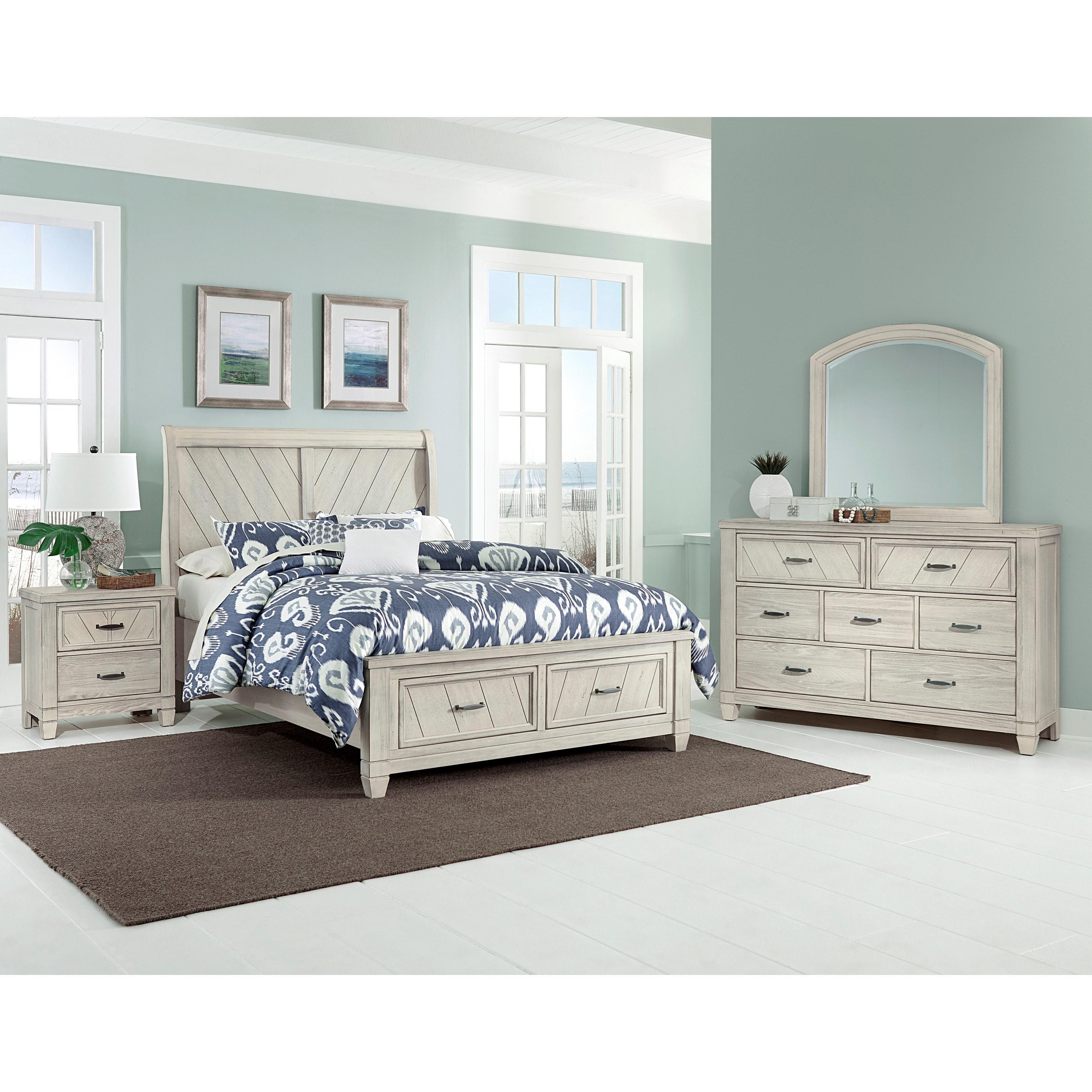 Vaughan Bassett Rustic Cottage Queen Bedroom Group - Item Number: 644 Q Bedroom Group 4