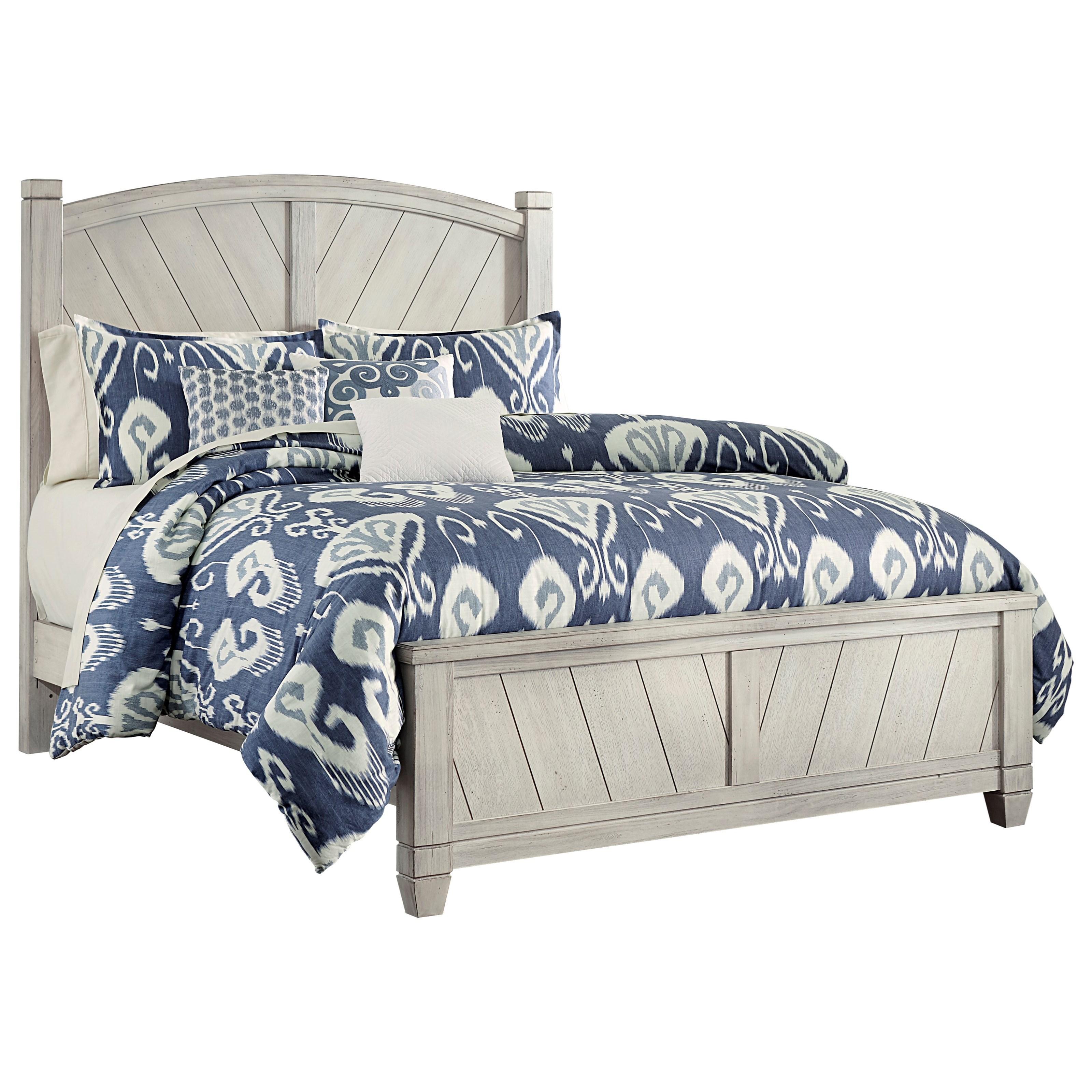 Nice Vaughan Bassett Rustic Cottage Queen Panel Bed   Item Number: 644 558+855