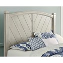 Vaughan Bassett Rustic Cottage Rustic Queen Panel Bed with Wine Barrel Inspired Panels - Bed Shown May Not Be Size Indicated