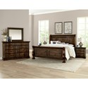 Vaughan Bassett Rustic Hills Queen Bedroom Group - Item Number: 680 Q Bedroom Group 3