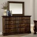Vaughan Bassett Rustic Hills Dresser & Shadowbox Mirror - Item Number: 680-004+445