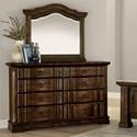 Vaughan Bassett Rustic Hills Dresser & Arched Landscape Mirror - Item Number: 680-004+446