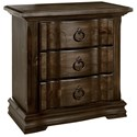 Vaughan Bassett Rustic Hills Night Stand - 3 Drawers - Item Number: 680-227