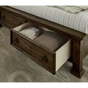 Vaughan Bassett Rustic Hills Queen Sleigh Bed with Storage Footboard