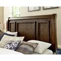 Vaughan Bassett Rustic Hills Cottage Style Queen Sleigh Bed
