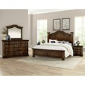 Vaughan Bassett Rustic Hills King Poster Bed with Storage Footboard