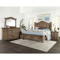 Vaughan Bassett Rustic Hills Queen Bedroom Group - Item Number: 682 Q Bedroom Group 2