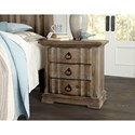Vaughan Bassett Rustic Hills Cottage Style Night Stand - 3 Drawers
