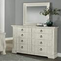 Vaughan Bassett Rustic Hills Dresser & Shadowbox Mirror