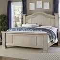 Vaughan Bassett Rustic Hills King Poster Bed - Item Number: 685-669+966+922+MS1