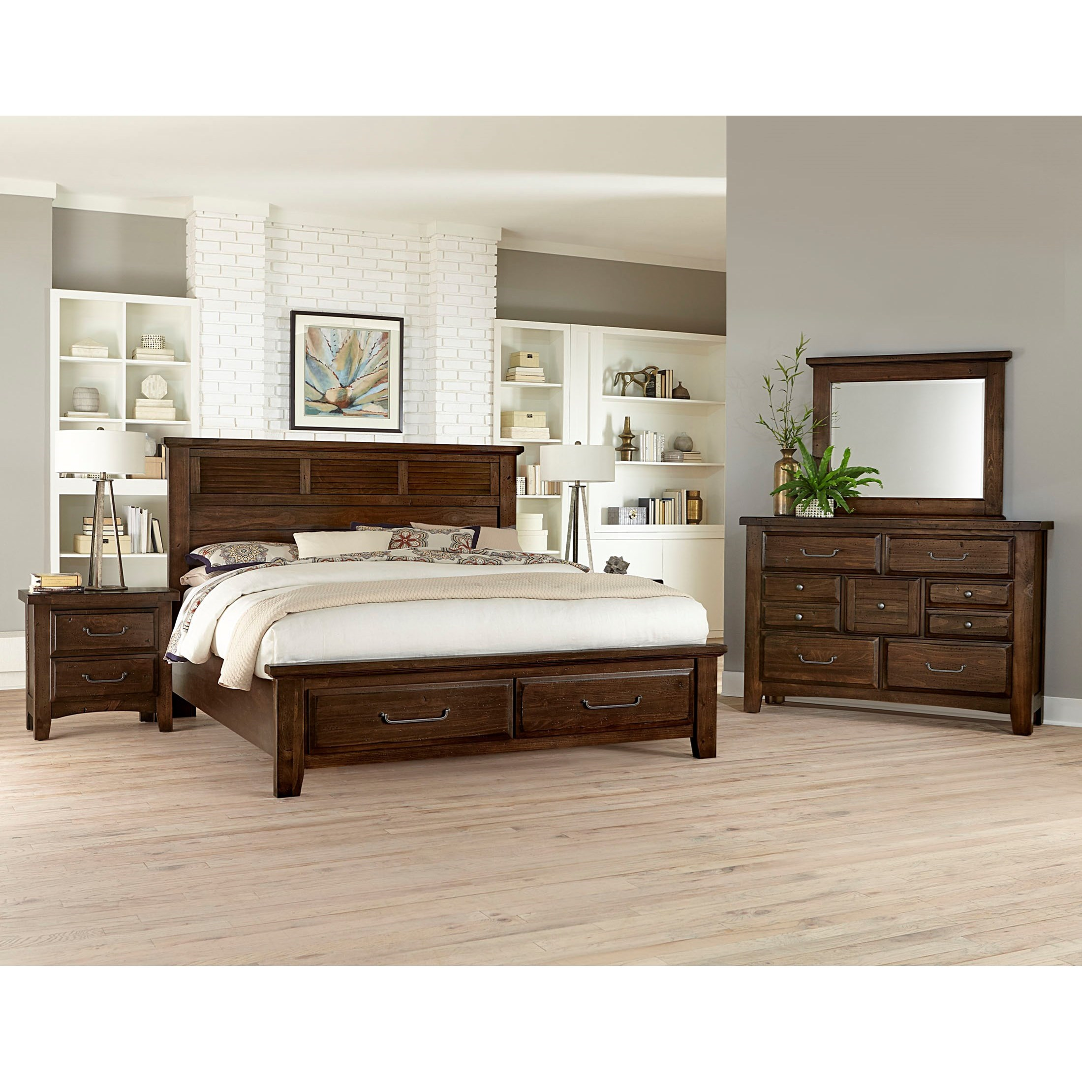 Vaughan Bassett Sawmill Queen Bedroom Group