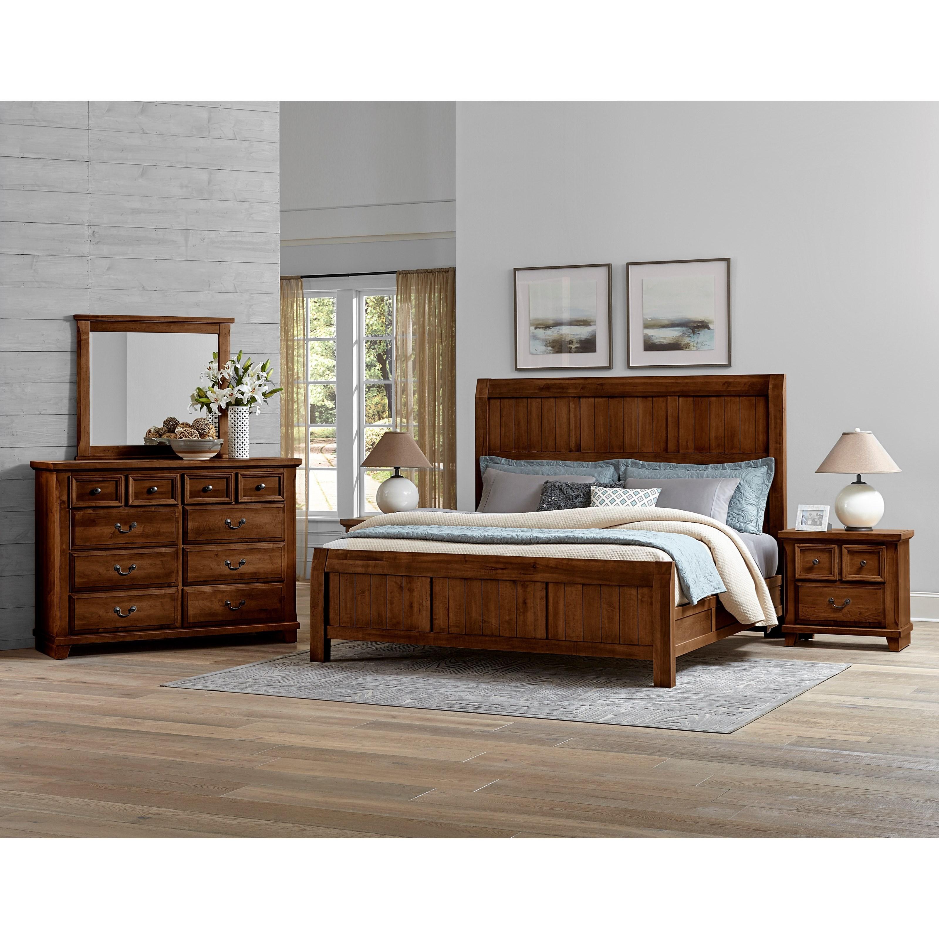 Vaughan Bassett Timber Creek Queen Bedroom Group - Item Number: 670 Q Bedroom Group 2