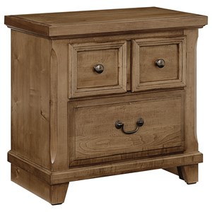 Vaughan Bassett Timber Creek Nightstand - 2 Drawers